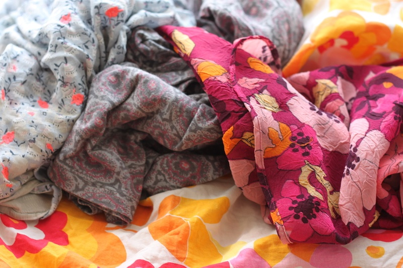 A pile of colourful clothing