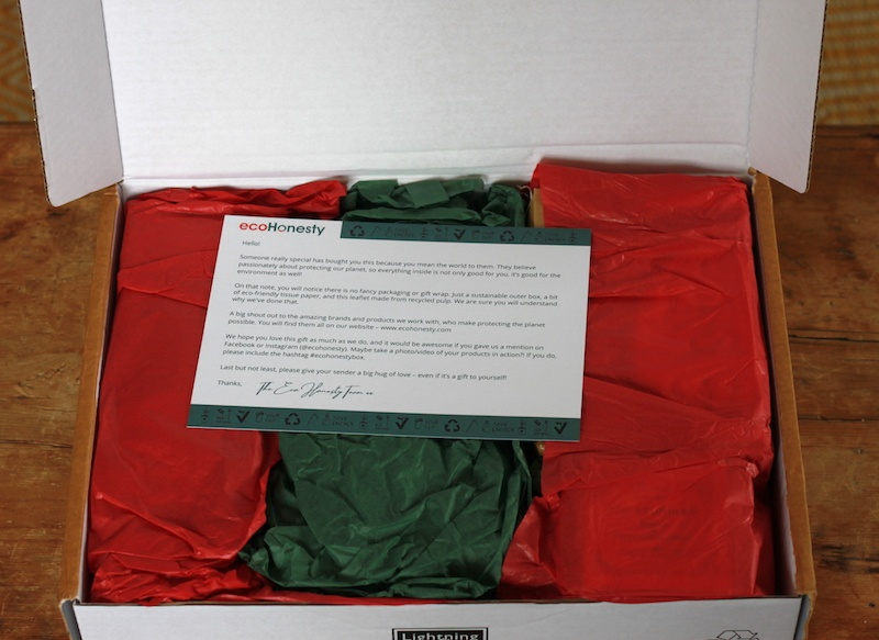 A package wrapped in coloured tissue paper