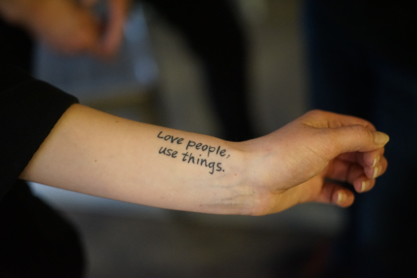 Love people, use things